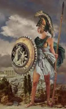 Greek Goddess Hestia Painting Of Face